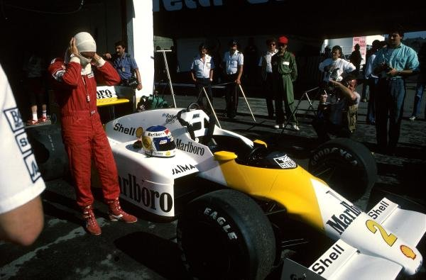 Keke Rosberg (FIN) McLaren MP4/2C failed to finish. The car was run in a one-off Marlboro Lights livery. Portugese Grand Prix, Estoril, 21 September 1986