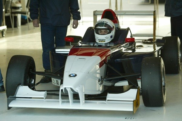 Jonathan Legris (GBR) tests a BMW Formula ADAC car