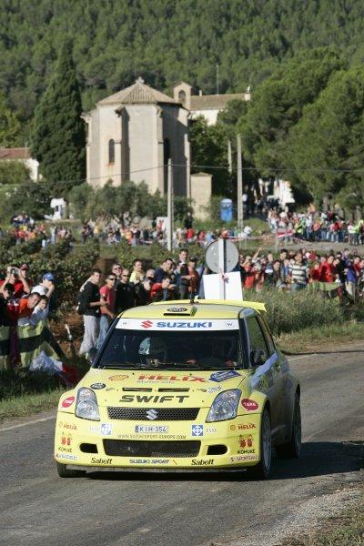 FIA World Rally Championship 2007Round 12Rally of Spain, Catalunya.4th - 7th October 2007Urmo Aava, Suzuki, action.Worldwide Copyright: McKlein/LAT
