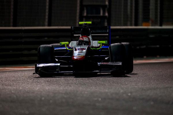 2016 GP2 Series Test 3 Yas Marina Circuit, Abu Dhabi, United Arab Emirates. Friday 2 December 2016. Nabil Jeffri (MAS, Trident)  Photo: Zak Mauger/GP2 Series Media Service. ref: Digital Image _L0U4811