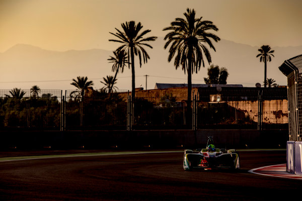 2016/2017 FIA Formula E Championship. Marrakesh ePrix, Circuit International Automobile Moulay El Hassan, Marrakesh, Morocco. Saturday 12 November 2016. Lucas Di Grassi (BRA), ABT Schaeffler Audi Sport, Spark-Abt Sportsline, ABT Schaeffler FE02.  Photo: Zak Mauger/LAT/Formula E ref: Digital Image _X0W5260