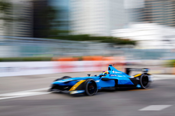 FIA Formula E Hong Kong e-Prix. First Practice Session. Sebastien Buemi (SUI), Renault e.Dams, Spark-Renault, Renault Z.E 16. Hong Kong Harbour, Hong Kong, Asia. Sunday 9 October 2016. Photo: Adam Warner / FE / LAT ref: Digital Image _L5R7464