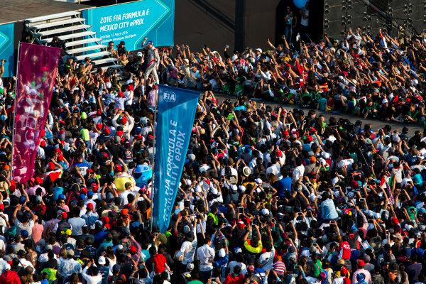 2015/2016 FIA Formula E Championship. Mexico City ePrix, Autodromo Hermanos Rodriguez, Mexico City, Mexico. Saturday 12 March 2016. Jerome D'Ambrosio (FRA) Dragon Racing - Venturi VM200-FE-01. Photo: Zak Mauger/LAT/Formula E ref: Digital Image _79P3918