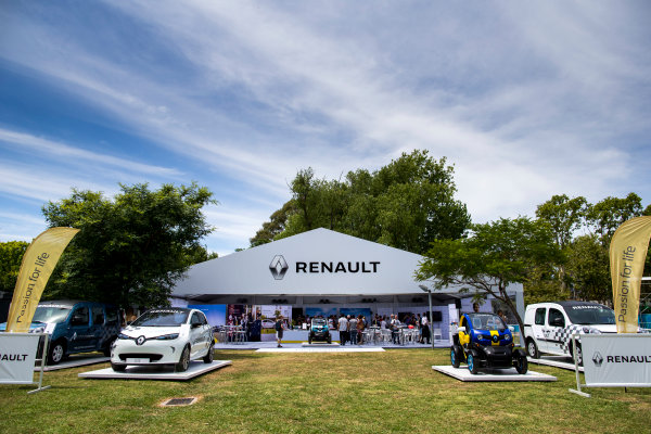 2015/2016 FIA Formula E Championship. Buenos Aires ePrix, Buenos Aires, Argentina. Friday 5 February 2016. The Renault stand in the eVillage. Photo: Zak Mauger/LAT/Formula E ref: Digital Image _L0U9951