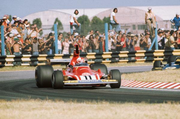 1975 Argentinian Grand Prix  Buenos Aires, Argentina. 10-12th January 1975.  Clay Regazzoni, Ferrari 312B3, 4th position.  Ref: 75ARG09. World copyright: LAT Photographic