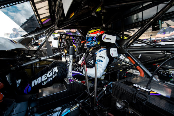2017 Supercars Championship Round 7.  Townsville 400, Reid Park, Townsville, Queensland, Australia. Friday 7th July to Sunday 9th July 2017. Jason Bright driver of the #56 MEGA Racing Ford Falcon FG-X. World Copyright: Daniel Kalisz/ LAT Images Ref: Digital Image 090717_VASCR7_DKIMG_5393.NEF