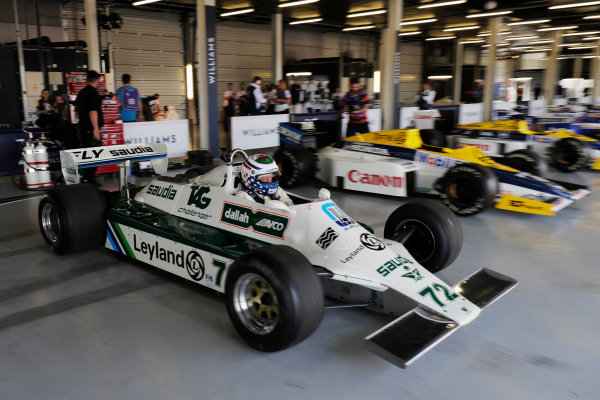 Williams 40 Event Silverstone, Northants, UK Friday 2 June 2017. A Carlos Reutemann Williams FW07b is demonstrated. World Copyright: Zak Mauger/LAT Images ref: Digital Image _56I9456