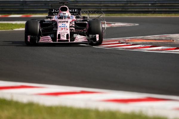 Hungaroring, Budapest, Hungary.  Wednesday 02 August 2017. Nikita Mazepin, Force India VJM10 Mercedes. World Copyright: Joe Portlock/LAT Images  ref: Digital Image _L5R2069