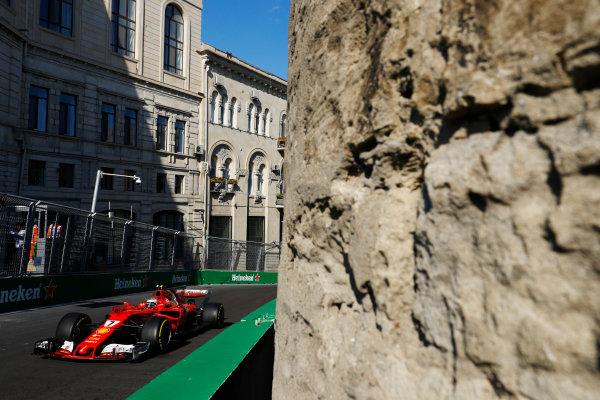 Baku City Circuit, Baku, Azerbaijan. Friday 23 June 2017. Kimi Raikkonen, Ferrari SF70H.  World Copyright: Steven Tee/LAT Images ref: Digital Image _R3I2364