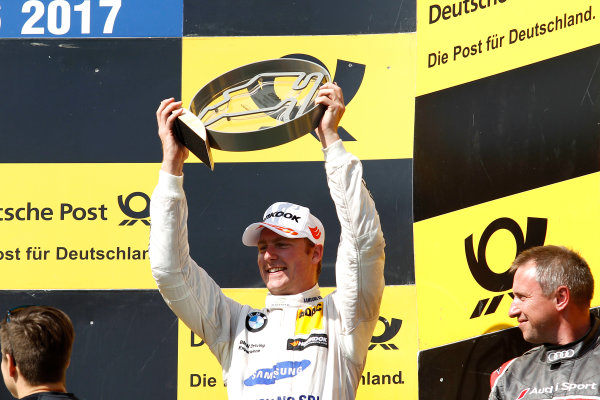 2017 DTM Round 3 Hungaroring, Budapest, Hungary. Sunday 18 June 2017. Podium: third place Maxime Martin, BMW Team RBM, BMW M4 DTM World Copyright: Alexander Trienitz/LAT Images ref: Digital Image 2017-DTM-R3-HUN-AT1-2770