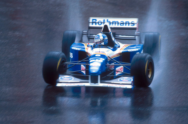 Spa-Francorchamps, Belgium.25-27 August 1995.David Coulthard (Williams FW17 Renault). He exited the race when his gearbox lost its oil. Ref-95 BEL 08.World Copyright - LAT Photographic