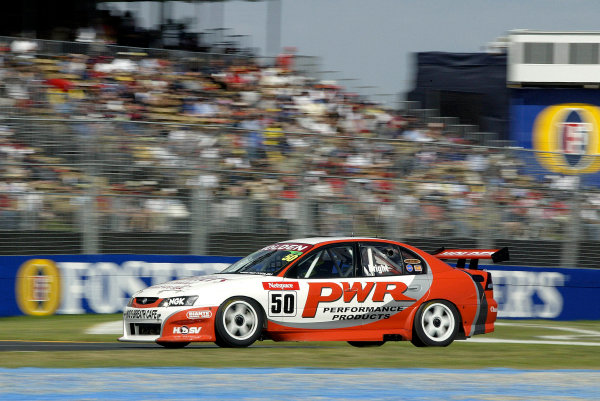 2004 Australian V8 Supercars.Non-Championship Round. Albert Park, Melbourne, 5th - 7th March.V8 Supercar driver Jason Bright in action in his new 04 Commodore. He went on to win the weekend .World Copyright: Mark Horsburgh/LAT Photographicref: Digital Image Only