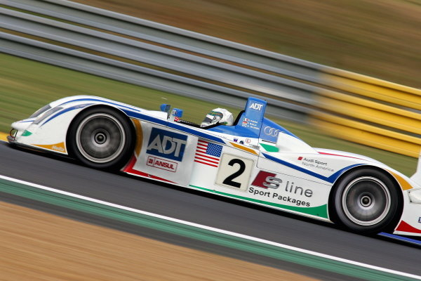 Frank Biela (GER) / Emanuelle Pirro (ITA) /  Alan McNish(GBR), Champion Racing Audi R8, on the finished the day second fastest.Le Mans 24 Hours, Second Qualifying, Le Mans, France, 16 June 2005.DIGITAL IMAGE