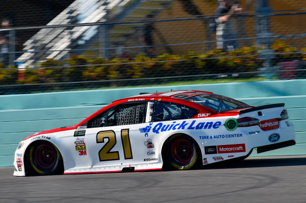 Monster Energy NASCAR Cup Series Ford EcoBoost 400 Homestead-Miami Speedway, Homestead, FL USA Sunday 19 November 2017 Ryan Blaney, Wood Brothers Racing, Motorcraft/Quick Lane Tire & Auto Center Ford Fusion World Copyright: Nigel Kinrade LAT Images