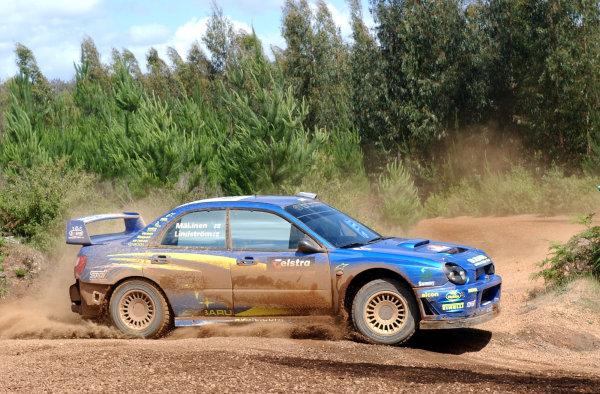 2002 World Rally Championship.Telstra Rally Australia, Perth. October 31st-November 3rd.Tommi Makinen on stage 6.Photo: Ralph Hardwick/LAT