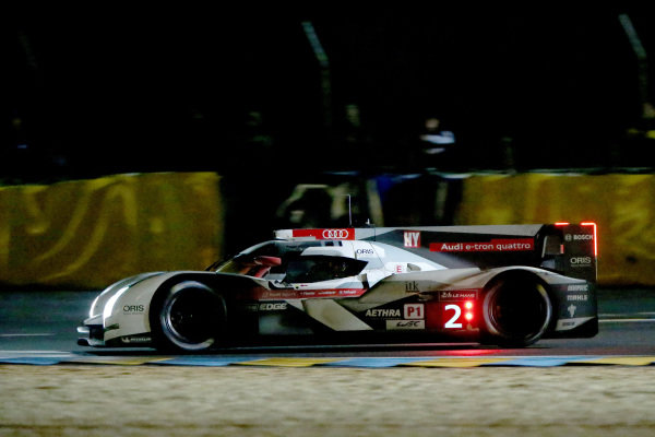 Marcel Fassler (SUI) / Andre Lotterer (GER) / Benoit Treluyer (FRA) Audi Sport Team Joest Audi R18 E-Tron Quattro. Le Mans 24 Hours, Le Mans, France, 12-14 June 2014.