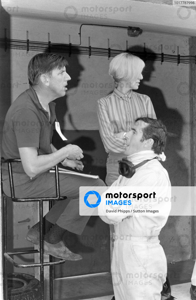 Ken and Norah Tyrrell with Jackie Stewart.