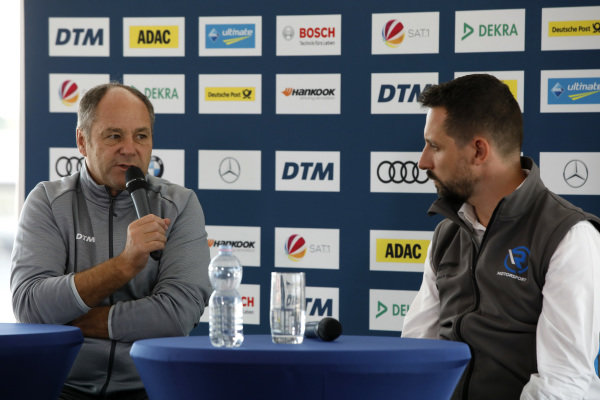 Gerhard Berger, ITR Chairman, Dr. Florian Kamelger, Founder and owner AF Racing AG and Team principal R-Motorsport.