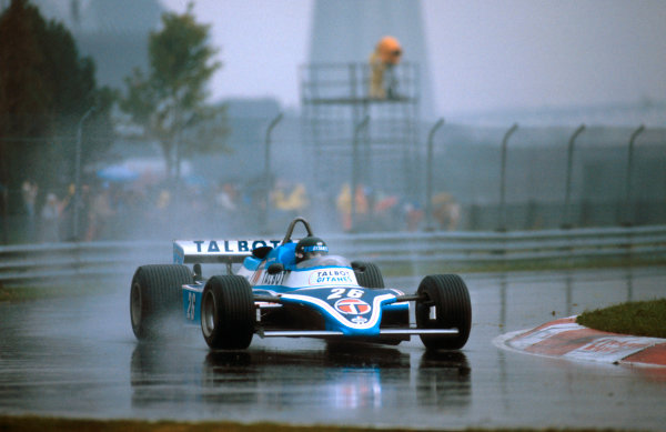 1981 Canadian Grand Prix.Montreal, Quebec, Canada.25-27 September 1981.Jacques Laffite (Talbot Ligier JS17 Matra) 1st position.Ref-81 CAN 10.World Copyright - LAT Photographic