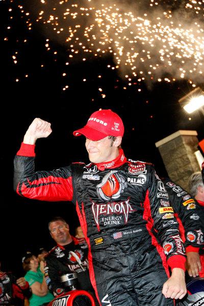 24-25 June, 2011, Newton, Iowa USAMarco Andretti celebrates victory(c)2011, Dan StreckLAT Photo USA
