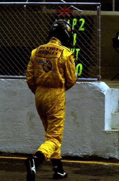 1999 Brazilian Grand Prix.Interlagos, Sao Paulo, Brazil.9-11 April 1999.Damon Hill (Jordan Mugen Honda).World Copyright - LAT Photographic