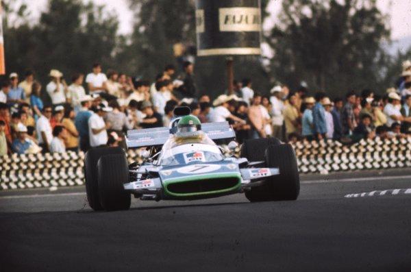 1970 Mexican Grand Prix.Mexico City, Mexico.23-25 October 1970.Henri Pescarolo (Matra-Simca MS120) 9th position.Ref-70 MEX 40.World Copyright - LAT Photographic