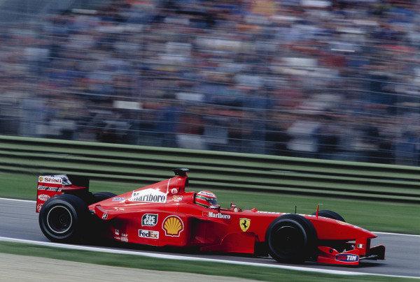 1999 San Marino Grand Prix.Imola, Italy. 30/4-2/5 1999.Eddie Irvine (Ferrari F399).Ref-99 SM 97.World Copyright - Steven Tee/LAT Photographic