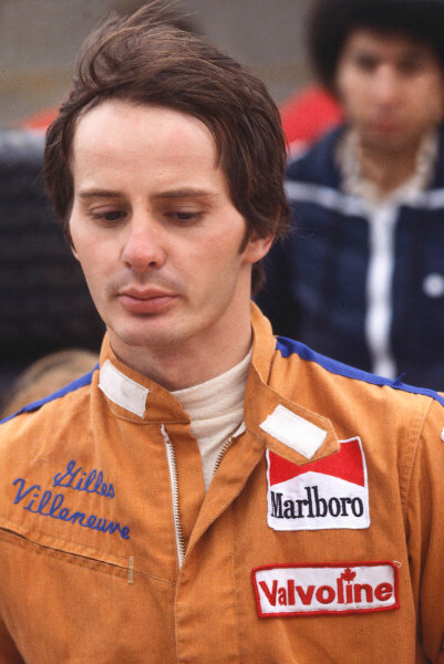 1977 British Grand Prix.Silverstone, England.14-16 July 1977.Gilles Villeneuve (McLaren Ford) 11th position on his Grand Prix debut.World Copyright - LAT Photographic