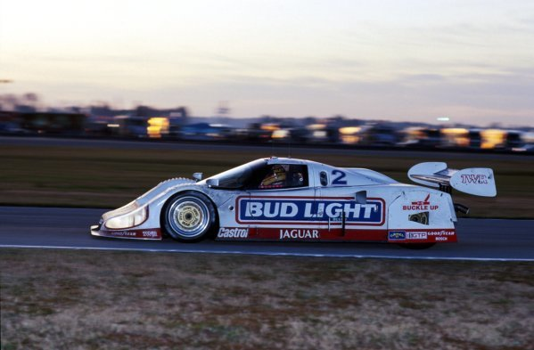Scott Pruett (USA) TWR Jaguar XJR-12D, 2nd place.IMSA GTP Championship, Rd1, Daytona 24 Hours, Daytona Beach, Florida, USA. 2 January 1992.BEST IMAGE