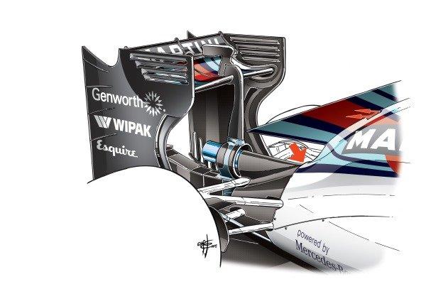 Williams FW37 engine cover