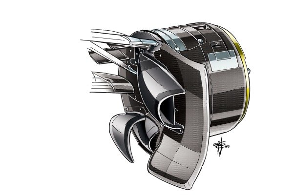 Red Bull RB11 brake duct and front calipers design