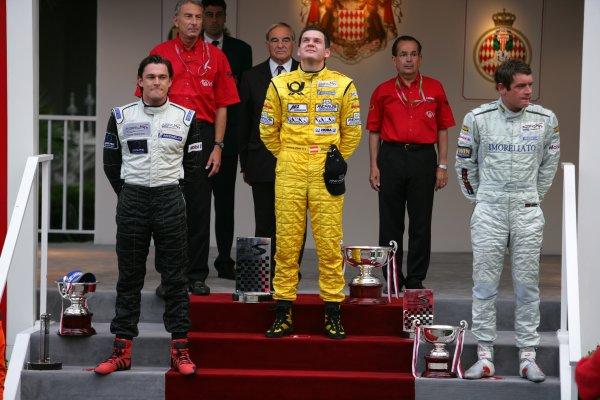 2006 Monaco Grand Prix - Porsche SupercupMonte Carlo, Monaco. 23rd - 28th May.Richard Lietz, David Saelens and Richard Westbrook on the podium.World Copyright: Lorenzo Bellanca/LAT Photographicref: Digital Image ZD2J1220