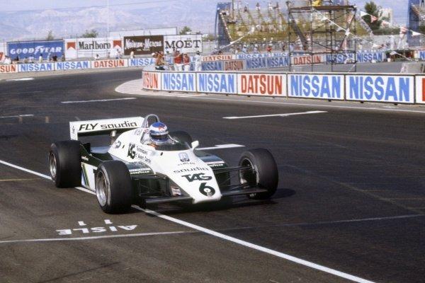 1982 Las Vegas Grand Prix.Caesars Palace, United States. 25 September 1982.Keke Rosberg, Williams FW08-Ford, 5th position, action.World Copyright: LAT PhotographicRef: 35mm transparency 82LV