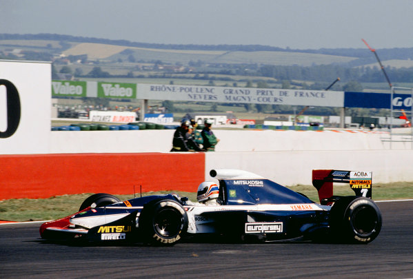 Magny-Cours, France.5-7 July 1991.Martin Brundle (Brabham BT60Y Yamaha).Ref-91 FRA 20.World Copyright - LAT Photographic