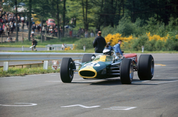Spa-Francorchamps, Belgium. 16-18 June 1967.  Jim Clark (Lotus 49 Ford) 6th position.  Ref: 67BEL05. World Copyright: LAT Photographic