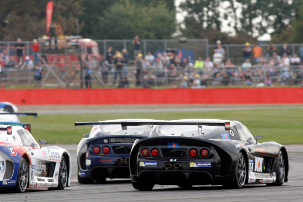2014 Ginetta GT4 Supercup, Silverstone, England. 27th-28th September 2014. Josh Cook (GBR) SV Racing. World Copyright: Ebrey / LAT Photographic.