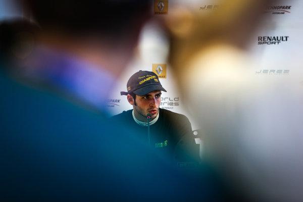 JEREZ (ESP) OKT 17-19 2014 - World Series by Renault 2014 at Circuito Permanente de Jerez. Carlos Sainz jr. #1 Dams. Portrait. © 2014 Diederik van der Laan  / Dutch Photo Agency / LAT Photographic