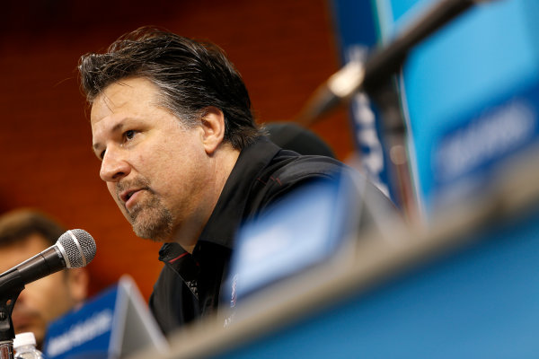 Miami e-Prix 2015. Friday Press Conferences. Michael Andretti - Andretti President, Chairman and CEO. FIA Formula E World Championship. Miami, Florida, USA. Friday 13 March 2015.  Copyright: Adam Warner / LAT / FE ref: Digital Image _L5R3130