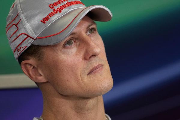 Interlagos, Sao Paulo, Brazil. 24th November 2011. Michael Schumacher, Mercedes GP W02. Portrait.  World Copyright: Steve Etherington/LAT Photographic ref: Digital Image SNE23710