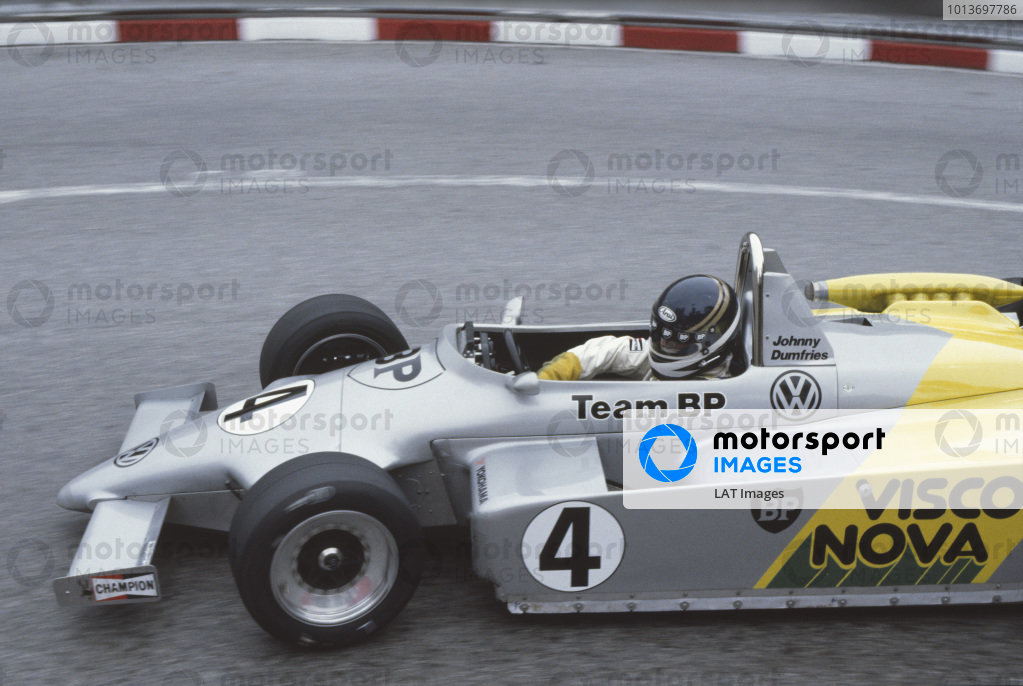 Monte Carlo, Monaco. 2nd position June 1984.Johnny Dumfries (Ralt RT3/83 - Volkswagen/Brabham Judd), retired, action. World Copyright: LAT Photographic.Ref:  Colour Transparency.