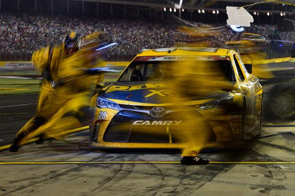 21-24 May, 2015, Concord, North Carolina USA Matt Kenseth, DeWalt Toyota Camry (20) makes a pit stop. ?2015, John Harrelson / LAT PHOTO USA