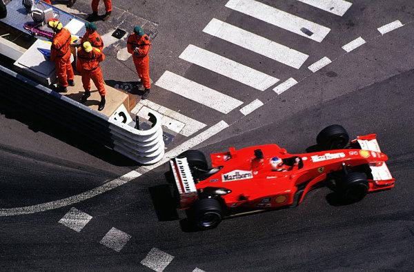 Monaco Grand Prix. Monte Carlo, Monaco. 24-27 May 2001. Rubens Barrichello (Ferrari F2001) 2nd position. World copyright - LAT Photograhic