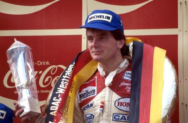 Race winner Jonathan Palmer (GBR), Ralt-Honda.European Formula Two Championship, Rd11, Zolder, Belgium, 21 August 1983.