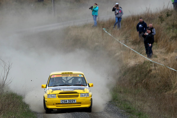 2014 MSA British Rally Championship, Pirelli Carlisle R B Foundation Rally. 3rd - 4th May 2014. Neil Matthews / Claire Williams Vauxhall Nova. World Copyright: Ebrey / LAT Photographic.