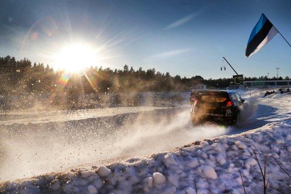 Ott Tanak (EST) / Raigo Molder (EST) Ford Fiesta RS WRC at World Rally Championship, Rd2, Rally Sweden, Day Two, Karlstad, Sweden, 14 February 2015.