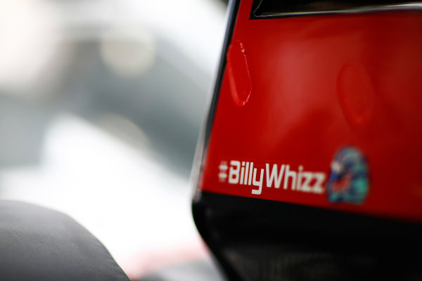 Sochi Autodrom, Sochi, Russia. Friday 28 April 2017. The Haas team shows solidarity for injured driver Billy Monger. World Copyright: Andy Hone/LAT Images ref: Digital Image _ONZ9176