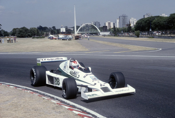 1979 Argentinian Grand Prix.Buenos Aires, Argentina.19-21 January 1979.Clay Regazzoni (Williams FW06 Ford) 10th positionRef-79 ARG 11.World Copyright - LAT Photographic