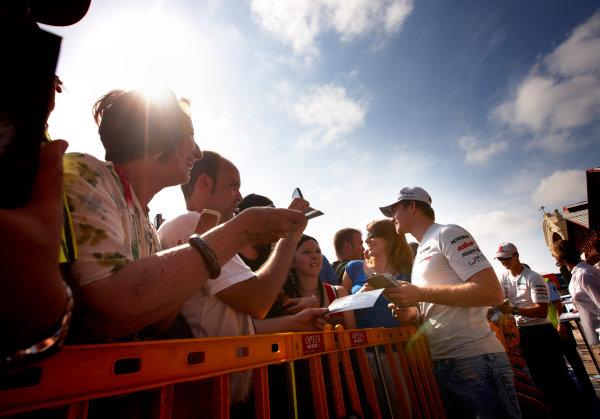 Valencia Street Circuit, Valencia, Spain 23rd June 2011. Nico Rosberg, Mercedes GP W02. Portrait.  World Copyright:Steve Etherington/LAT Photographic ref: Digital Image SNE29150