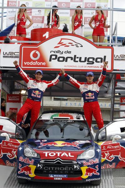 Round 03-Rally Portugal. 23th-27th March 2011.Sebastien Ogier, Julien Ingrassia, Citroen WRC, PodiumWorldwide Copyright: McKlein/LAT