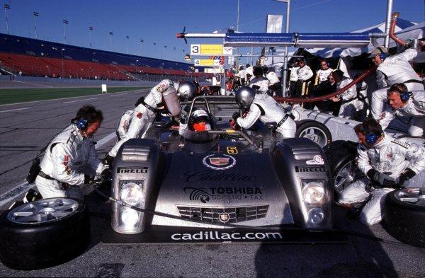 2000 Rolex 24 at Daytona. February 5-6, 2000Daytona International Speedway, Florida USA.Wayne Taylor at wheel of #5 Cadillac in for a pit stopPhoto by: Richard Dole/LAT